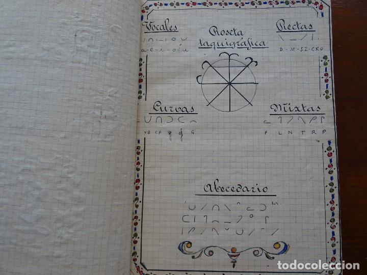 Manuscritos antiguos: Taquigrafía, Método taquigráfico - Foto 6 - 192914181