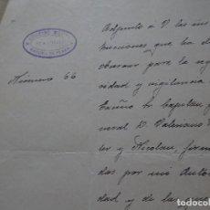 Manuscritos antiguos: SEGURIDAD CAPITÁN GENERAL VALERIANO WEYLER 1926. Lote 192915933