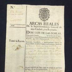 Manuscritos antiguos: ESCOPETEROS VOLUNTARIOS DE ANDALUCÍA. 1782. CONTRIBUCIÓN TOCINA. SEVILLA.. Lote 193012130