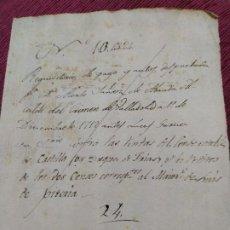 Manuscritos antiguos: 1712. REQUISITORIA DE PAGOS Y AUTOS. DON ALONSO YÁÑEZ DE ARANDA; CONDE ESTABLE DE CASTILLA.. Lote 193028050