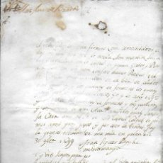 Manuscritos antiguos: DOCUMENT DE PAGAMENT PER PART DE JOAN SEGUER PAGÈS DE MADREMANYA ( GIRONA ) 1699.. Lote 193045848