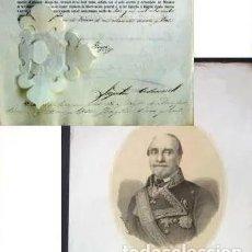 Manuscritos antiguos: DOCUMENTOS FIRMADOS POR ISABEL II Y LEOPOLDO ODONNELL. AÑO 1863. Lote 191592901