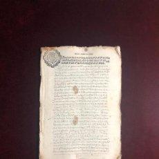 Manuscritos antiguos: DOCUMENTO A FAVOR DE UN CABALLERO DE SANTIAGO 1642. Lote 193630301