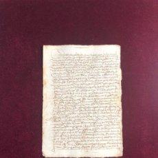 Manuscritos antiguos: DOCUMENTO OTORGADO EN LA VILLA DE BELVÍS EN 1538 PLASENCIA (CÁCERES). Lote 193713890