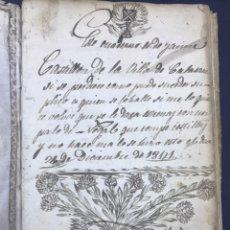 Manuscritos antiguos: CUADERNO DE COLEGIO PERGAMINO. VILLA CALASANZ (LA LITERA), HUESCA. APUNTES, DIBUJO.. Lote 193824588