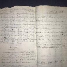 Manuscritos antiguos: CUENTA GENERAL RENTA DE TABACOS 1825. BORJA. MUY INTERESANTE. Lote 193942197