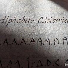 Manuscritos antiguos: ALFABETO CELTIBERICO - MANUSCRITO - ESTUDIO DE ALFABETOS - SIGLO XVIII - 50 PÁGINAS. Lote 194127867