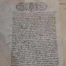 Manuscritos antiguos: 1833 FERNANDO VII ESCRITURA SAN JUAN DE VILLARONTE. Lote 194193661