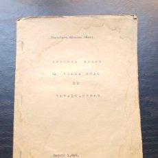 Manuscritos antiguos: 1949. NOTICIA SOBRE LA VILLA REAL DE NAVALCARNERO, POR FRANCISCO SÁNCHEZ GÓMEZ. Lote 194205403