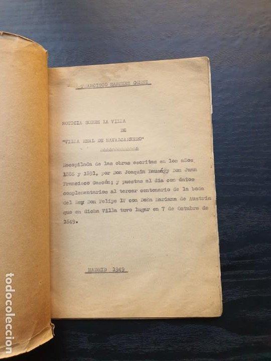 Manuscritos antiguos: 1949. NOTICIA SOBRE LA VILLA REAL DE NAVALCARNERO, POR FRANCISCO SÁNCHEZ GÓMEZ - Foto 2 - 194205482