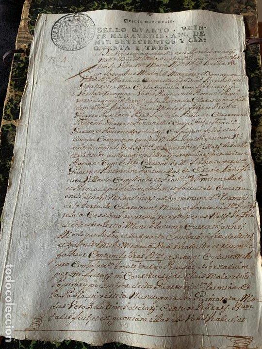 EXCEPCIONAL DOCUMENTO MANUSCRITO FABRICANTES DE PAPEL, ROMANI, GUARRO, CAPELLADES AÑO 1753 (Coleccionismo - Documentos - Manuscritos)