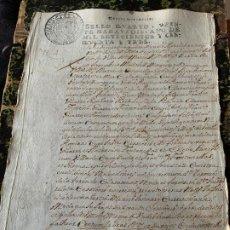 Manuscritos antiguos: EXCEPCIONAL DOCUMENTO MANUSCRITO FABRICANTES DE PAPEL, ROMANI, GUARRO, CAPELLADES AÑO 1753. Lote 194206303