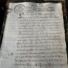 Manuscritos antiguos: EXCEPCIONAL DOCUMENTO MANUSCRITO FABRICANTES DE PAPEL FONT, GUARRO, ROMANI....AÑO 1797. Lote 194210898