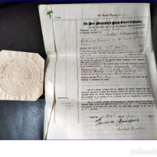 Manuscritos antiguos: AÑO 1897: CURIOSO MANUSCRITO DEL SIGLO XIX DE VARIAS PÁGINAS EN PERGAMINO.. Lote 194214035