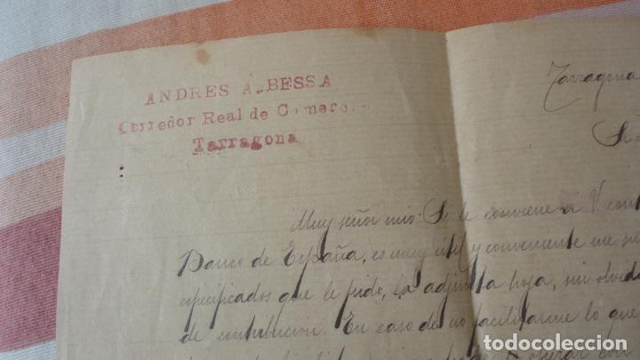 Manuscritos antiguos: ANTIGUA CARTA.ANDRES A.BESSA.CORREDOR COMERCIAL.TARRAGONA 1909. FRANCISCA QUERAL MORELL. - Foto 3 - 194217226
