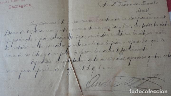 Manuscritos antiguos: ANTIGUA CARTA.ANDRES A.BESSA.CORREDOR COMERCIAL.TARRAGONA 1909. FRANCISCA QUERAL MORELL. - Foto 4 - 194217226