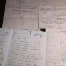 Manuscritos antiguos: GOSOL,BERGADA,LÉRIDA, DOCUMENTACION SIGLO XIX,SOCIEDAD INSTRUCTIVA RECREATIVA GOSOLANA.. Lote 194244620