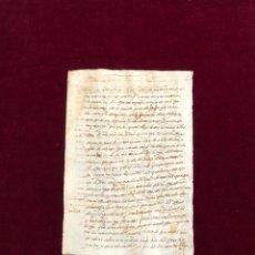 Manoscritti antichi: CARTA DE PAGO DE VECINO DE NAVAHERMOSA (TOLEDO) EN NOMBRE DE SU MUJER, AMA DE CRÍA 1592. Lote 194300800