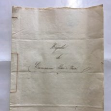 Manuscritos antiguos: ALGINET. HIJUELA DE ENCARNACION SIMO E YNZA. ESCRIBANO DON VICENTE DOMENECH Y GREUS. AÑO 1861.. Lote 194305672