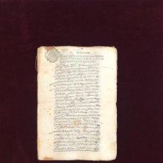 Manuscritos antiguos: VECINOS DE CAMPO REAL (MADRID) CON CABALLERO DE SANTIAGO 1644. Lote 194305867