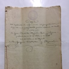 Manuscritos antiguos: ALGINET. COPIA DEL EXPEDIENTE DE INFORMACIÓN AD PERPETUAM...JUZGADO DE CARLET. NOT. JOAQUIN BOTELLA,. Lote 194314061