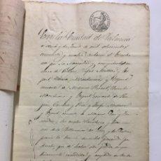 Manuscritos antiguos: VALENCIA. ESCRITURA DE VENTA DE UNA CASA. ESCRIBANO JOSÉ ANTIGA ESQUIEZ. AÑO 1854.. Lote 194317908