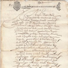 Manuscritos antiguos: 1645 MADRID FISCAL 3º DE 34 MARAVEDIS DOCUMENTO MANUSCRITO PAPEL SELLADO. Lote 194324701