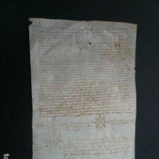 Manuscritos antiguos: MANUSCRIT. 1553. CATALÀ. TESTAMENT DE JAUME SALA, PAGES DE LA PARROQUIA DE SANT ANDREU DE PALOMAR.. Lote 194391863