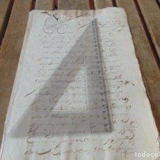 Manuscritos antiguos: DOCUMENTO FERNANDO VI SEXTO AÑO 1747 COCECHAS TRIGO GRANEROS FRUTAS CUMPLIMIENTOS ORDEN ,LEER . Lote 194391931