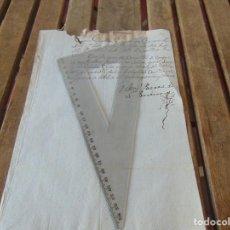 Manuscritos antiguos: DOCUMENTO FERNANDO VI SEXTO AÑO 1747 GUARDIÁN CONVENTO SEÑORA DE LA O DESCALZOS CASTILLEJA ,LEER . Lote 194392770