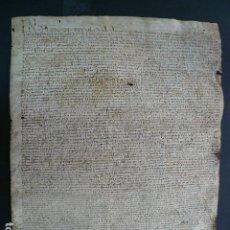 Manuscritos antiguos: MANUSCRIT. 1580. SANTA CECILIA DE MOLLÓ, RIPOLLÈS. SIGNUM DE JOAN FRANCOLÍ DE CAMPRODON. CATALÀ.. Lote 194393007