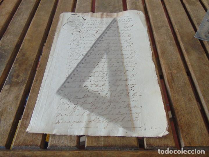 DOCUMENTO FERNANDO VI SEXTO AÑO 1747 CIRUJANO, MEDICO ,FRANCISCANOS, DESCALZOS ,TRIGO, FANEGA ,LEER (Coleccionismo - Documentos - Manuscritos)