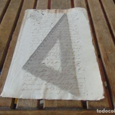 Manuscritos antiguos: DOCUMENTO FERNANDO VI SEXTO AÑO 1747 CIRUJANO, MEDICO ,FRANCISCANOS, DESCALZOS ,TRIGO, FANEGA ,LEER . Lote 194393276