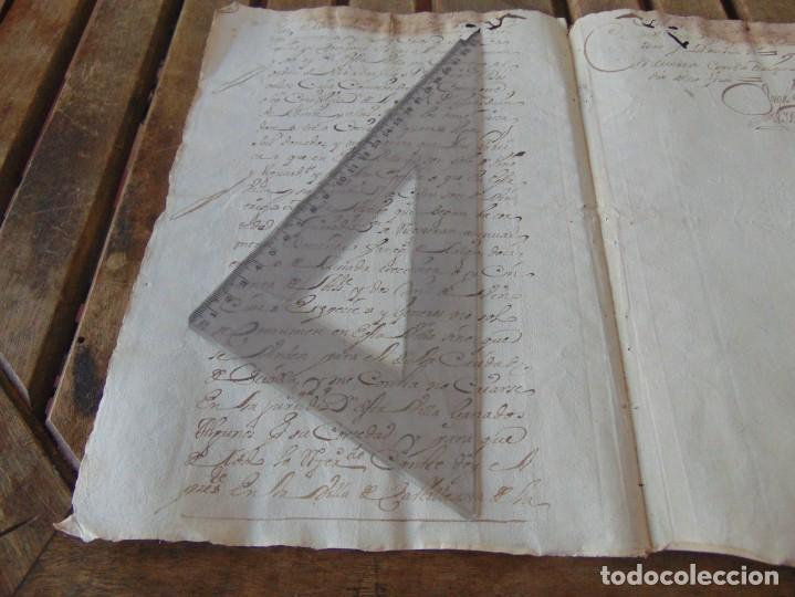 Manuscritos antiguos: DOCUMENTO FERNANDO VI SEXTO AÑO 1747 CIRUJANO, MEDICO ,FRANCISCANOS, DESCALZOS ,TRIGO, FANEGA ,LEER - Foto 4 - 194393276