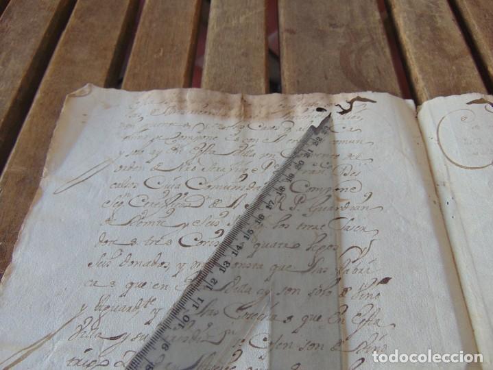 Manuscritos antiguos: DOCUMENTO FERNANDO VI SEXTO AÑO 1747 CIRUJANO, MEDICO ,FRANCISCANOS, DESCALZOS ,TRIGO, FANEGA ,LEER - Foto 5 - 194393276