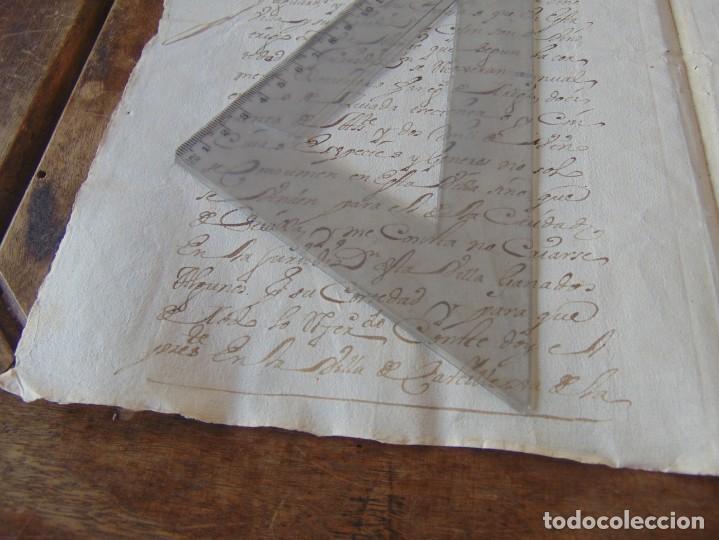 Manuscritos antiguos: DOCUMENTO FERNANDO VI SEXTO AÑO 1747 CIRUJANO, MEDICO ,FRANCISCANOS, DESCALZOS ,TRIGO, FANEGA ,LEER - Foto 6 - 194393276