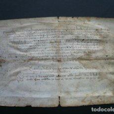 Manuscritos antiguos: MANUSCRIT. 1410. DOT DE BERNAT DE SANT HILARI PARAIRE DE DRAPS DE LLANA DE BARCELONA.. Lote 194393697