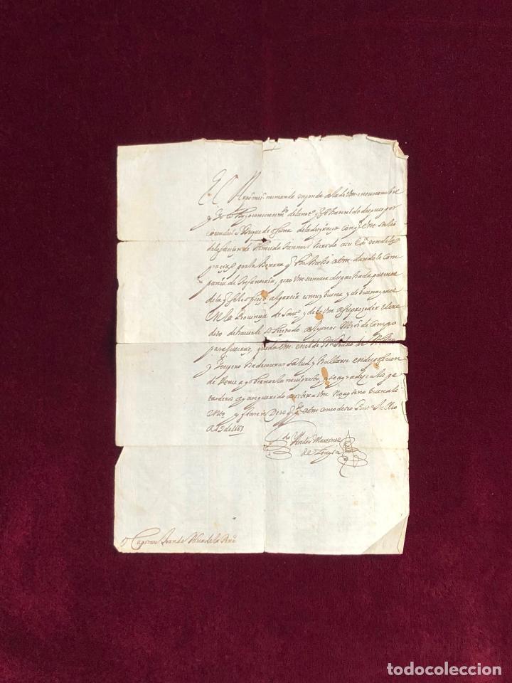 ARZOBISPO DE SANTIAGO DE COMPOSTELA - GUERRA PORTUGAL DUQUE DE OSUNA PONTEVEDRA 1663 (Coleccionismo - Documentos - Manuscritos)