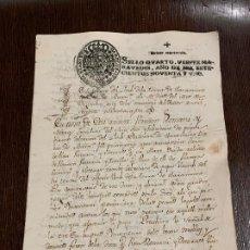 Manuscritos antiguos: ANTIGUO DOCUMENTO AÑO 1791 - ROMANÍ - INTERES HISTORIA FABRICANTES DE PAPEL, LA TORRA DE CLARAMUNT.. Lote 194528473