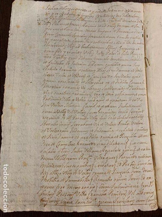 Manuscritos antiguos: Antiguo documento año 1727 - ROMANÍ - interes historia fabricantes de papel, la Torra de Claramunt. - Foto 2 - 194529020