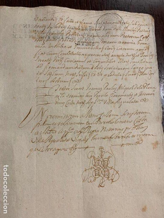 Manuscritos antiguos: Antiguo documento año 1727 - ROMANÍ - interes historia fabricantes de papel, la Torra de Claramunt. - Foto 3 - 194529020