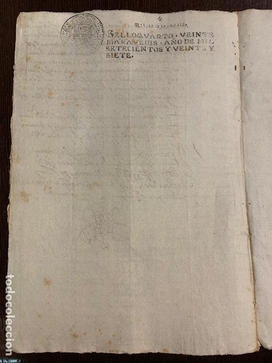 Manuscritos antiguos: Antiguo documento año 1727 - ROMANÍ - interes historia fabricantes de papel, la Torra de Claramunt. - Foto 4 - 194529020