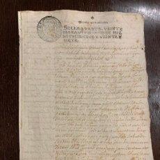 Manuscritos antiguos: ANTIGUO DOCUMENTO AÑO 1727 - ROMANÍ - INTERES HISTORIA FABRICANTES DE PAPEL, LA TORRA DE CLARAMUNT.. Lote 194529020