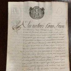 Manuscritos antiguos: ANTIGUO DOCUMENTO DE 1828 - ALMIRALL,ROMANÍ - HISTORIA FABRICANTES DE PAPEL, LA TORRA DE CLARAMUNT.. Lote 194530162
