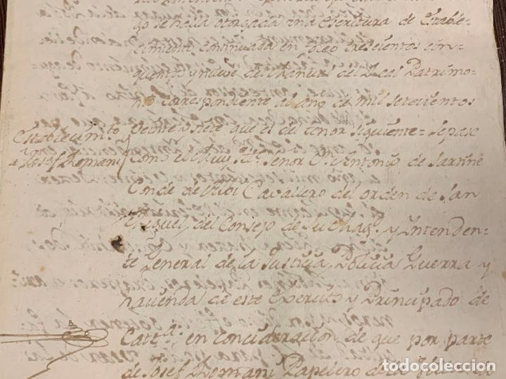 Manuscritos antiguos: Antiguo documento de 1791 - ROMANÍ, COCA - historia fabricantes de papel de Capellades - Foto 3 - 194533841