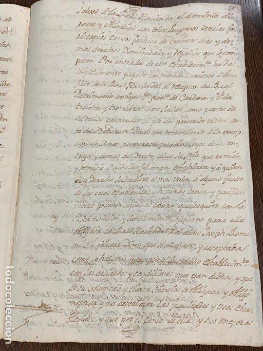 Manuscritos antiguos: Antiguo documento de 1791 - ROMANÍ, COCA - historia fabricantes de papel de Capellades - Foto 10 - 194533841
