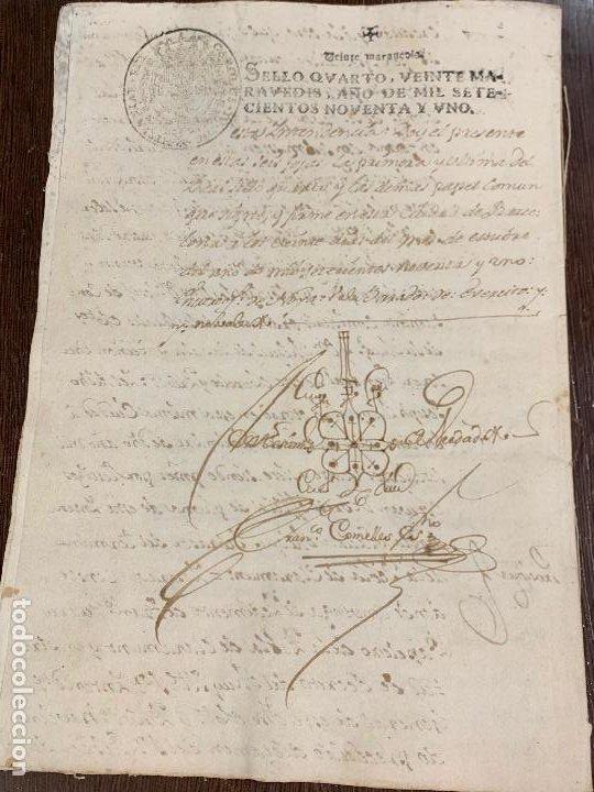 Manuscritos antiguos: Antiguo documento de 1791 - ROMANÍ, COCA - historia fabricantes de papel de Capellades - Foto 14 - 194533841