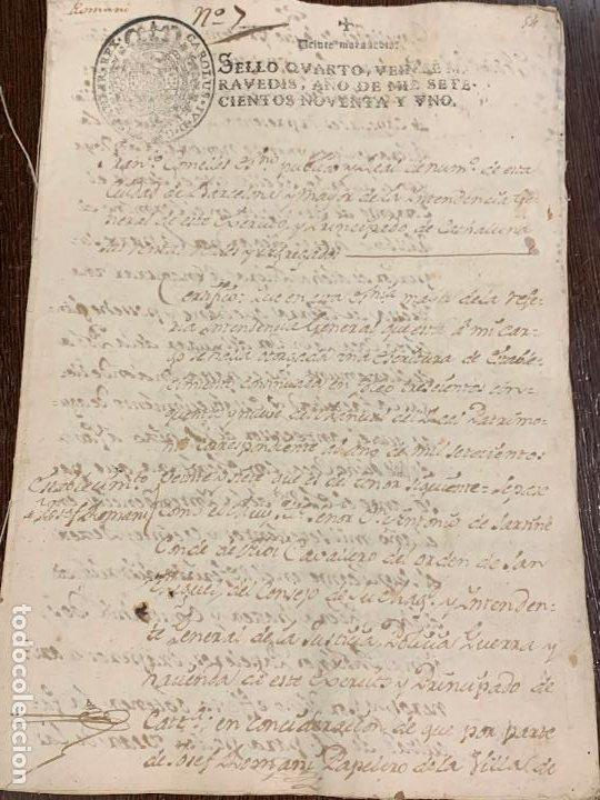 ANTIGUO DOCUMENTO DE 1791 - ROMANÍ, COCA - HISTORIA FABRICANTES DE PAPEL DE CAPELLADES (Coleccionismo - Documentos - Manuscritos)
