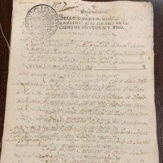 Manuscritos antiguos: ANTIGUO DOCUMENTO DE 1791 - ROMANÍ, COCA - HISTORIA FABRICANTES DE PAPEL DE CAPELLADES. Lote 194533841
