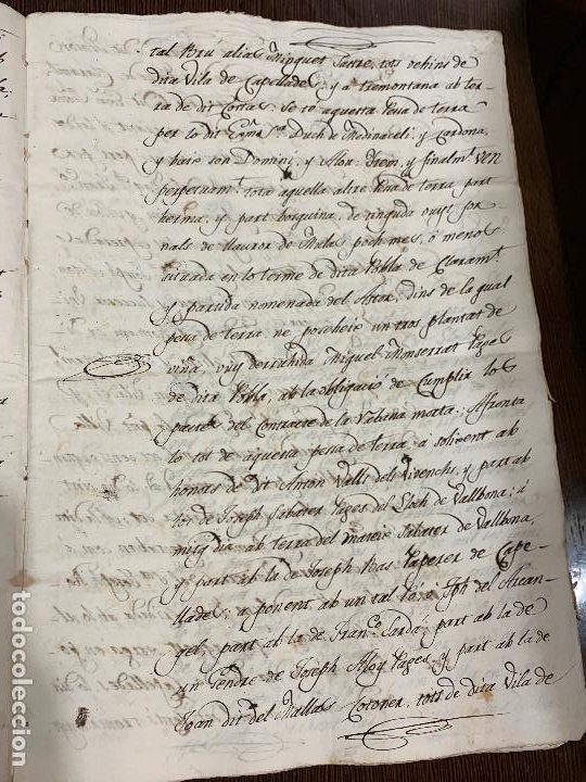 Manuscritos antiguos: Antiguo documento de 1815 - ROMANÍ - historia fabricantes de papel de Capellades, inquisicion - Foto 5 - 194535026